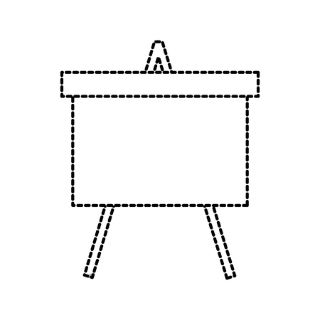 chalkboard tripod study learning blank icon vector illustration
