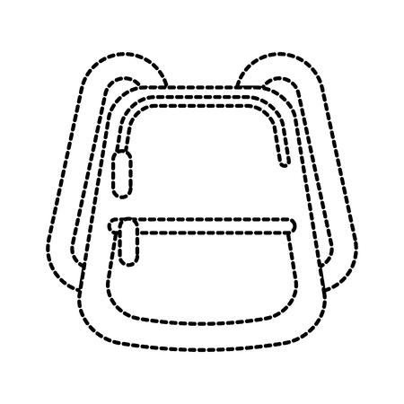 school rugzak apparatuur accessoire mode vectorillustratie