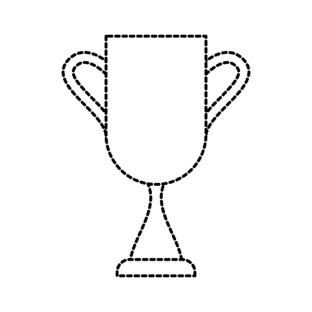 school trophy success award for student icon vector illustration