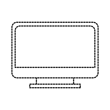 school monitor computer device technology wireless vector illustration