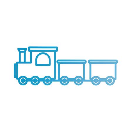 Set van twee treinen, passagiers en vracht. Icoon van een kinderspeelgoed. platte vectorillustratie isoleren op een witte achtergrond