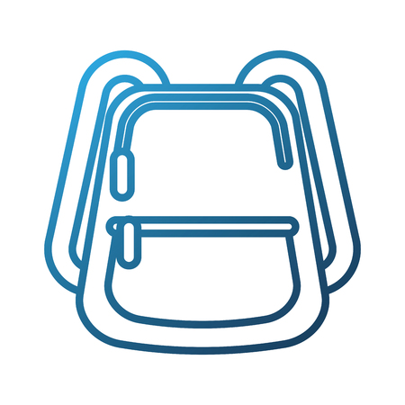 school backpack equipment accessory fashion vector illustration Иллюстрация