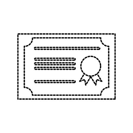 certificate school diploma graduation success vector illustration