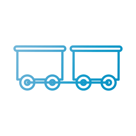 ワゴン輸送のベクトル図とおもちゃの列車