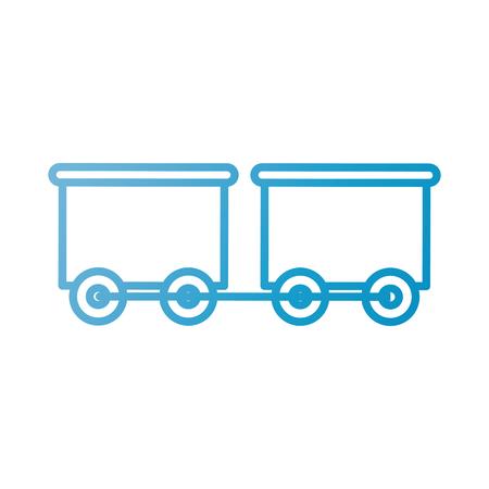 speelgoed trein met de wagen vervoer vectorillustratie
