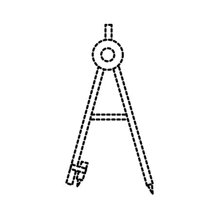 school compass geometry maths science tool vector illustration