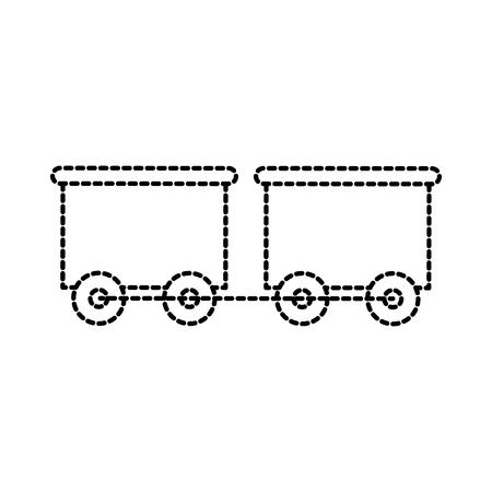 Spielzeugzug mit der Waggontransport-Vektorillustration Standard-Bild - 87737445