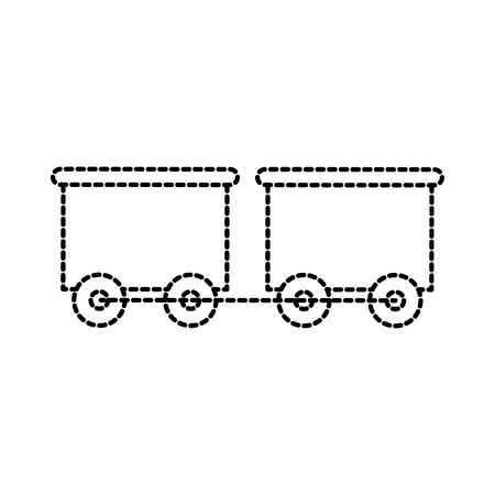 toy train with the wagon transport vector illustration Ilustração