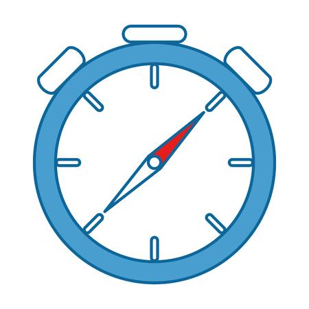 Cronometro cronometro isolato icona illustrazione vettoriale di progettazione Archivio Fotografico - 87737494