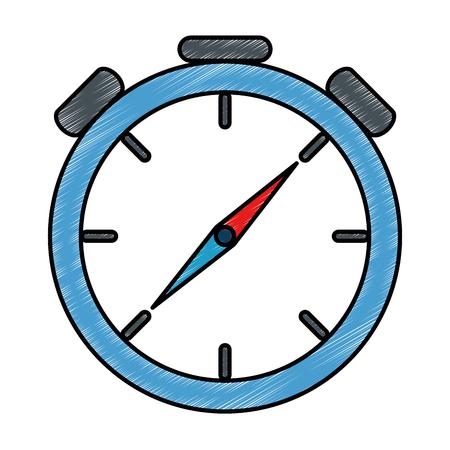 Timer cronometro isolato icona illustrazione vettoriale progettazione Archivio Fotografico - 87737550