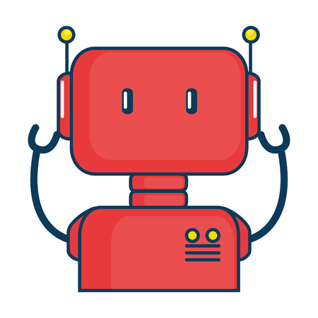 electronic robot character icon vector illustration design Stok Fotoğraf - 87738371
