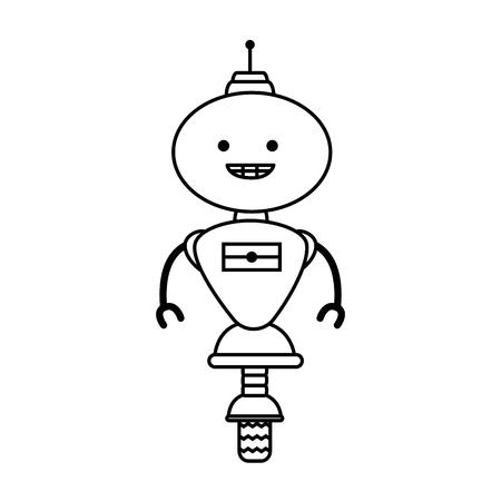 robot electrónico con diseño de ilustración vectorial de ruedas