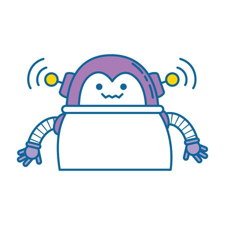 diseño de ilustración de vector de icono de robot de carácter electrónico