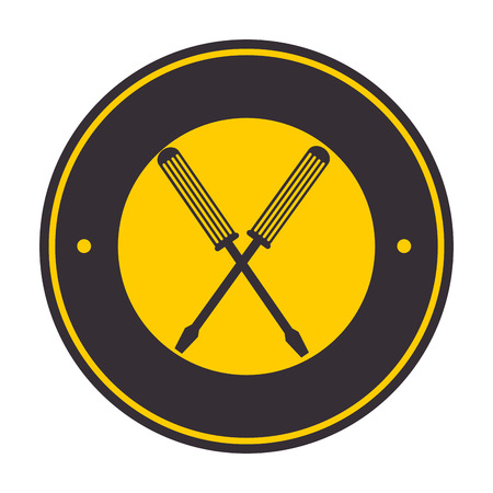 screwdrivers crossed tools isolated icon vector illustration design