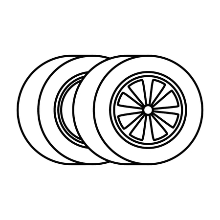 car tires isolated icon vector illustration design Zdjęcie Seryjne - 87747002
