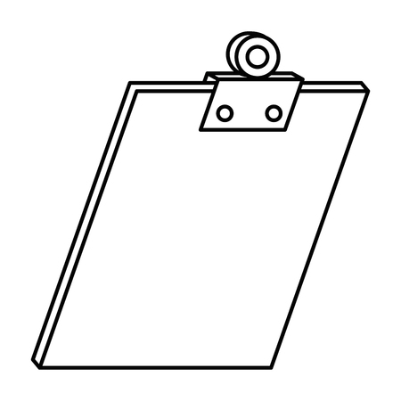 클립 보드 문서 격리 된 아이콘 벡터 일러스트 레이 션 디자인