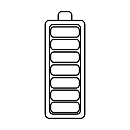 Ikonenvektor-Illustrationsdesign der Batterie lokalisiertes Standard-Bild - 87745438