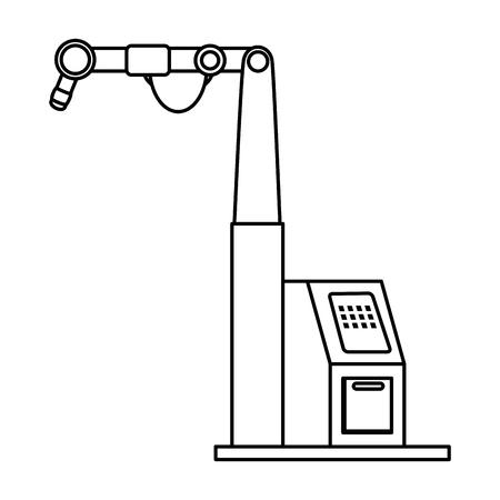 Assemblaggio macchina isolato icona illustrazione vettoriale design Archivio Fotografico - 87745125