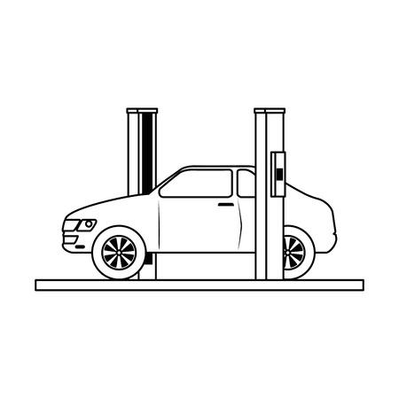 car with assembling machine vector illustration design Фото со стока - 87745151