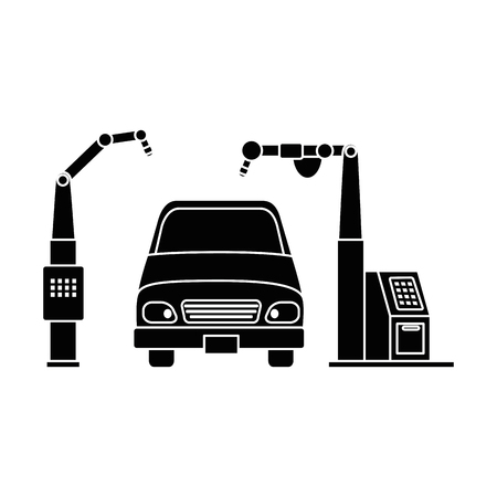 car with assembling machine vector illustration design Фото со стока - 87747041