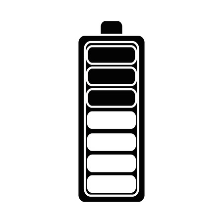 Ikonenvektor-Illustrationsdesign der Batterie lokalisiertes Standard-Bild - 87747044