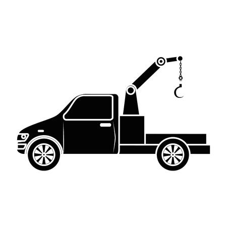 truck crane isolated icon vector illustration design