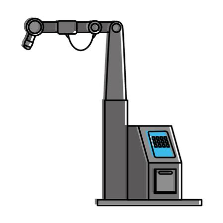 Zusammenfassungsmaschine lokalisierte Ikonenvektor-Illustrationsdesign Standard-Bild - 87747384