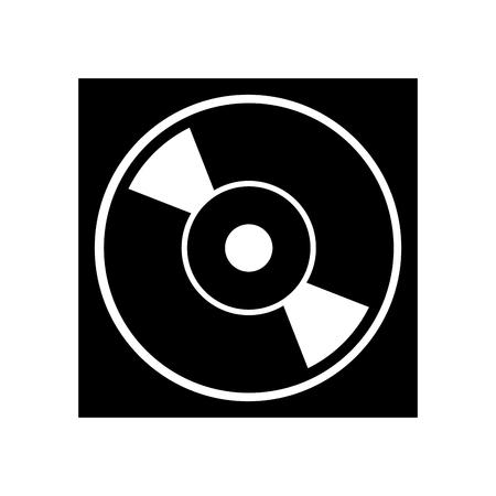 Affaire pour dvd ou cd disque compact stockage numérique vector illustration Banque d'images - 87838085