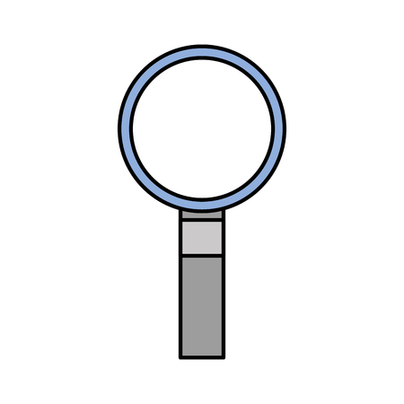 finding the right information view program magnifying glass vector illustration