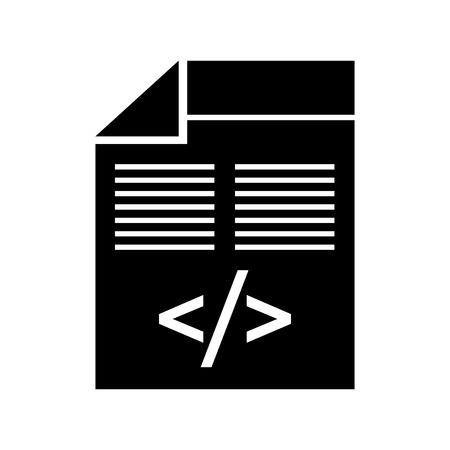 programmeervenster met script van coderende gegevens vectorillustratie Stock Illustratie