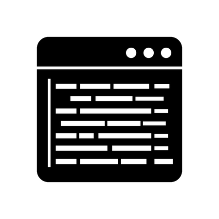 ソース ページ プログラミング開発 web データ ベクトル イラスト  イラスト・ベクター素材