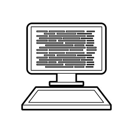 プログラミングとコーディング概念コード画面コンピューター上ベクトル イラスト