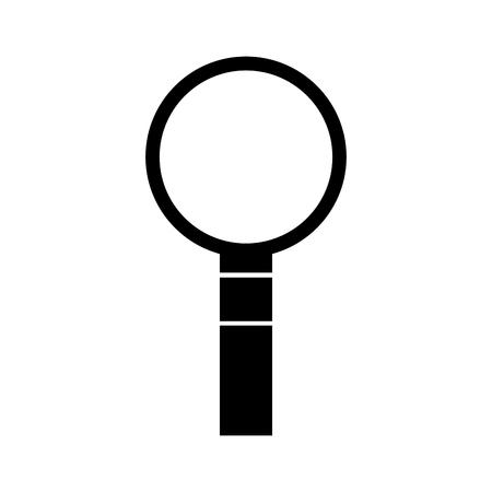 올바른 정보보기 프로그램 찾기 돋보기 벡터 일러스트 레이션