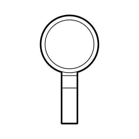 het vinden van de juiste informatie vergrootglas van het programma weergave vector illustratie Stock Illustratie