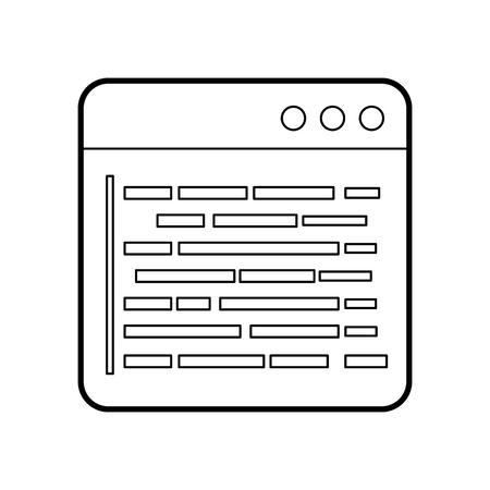 source page programming development web data vector illustration Illustration