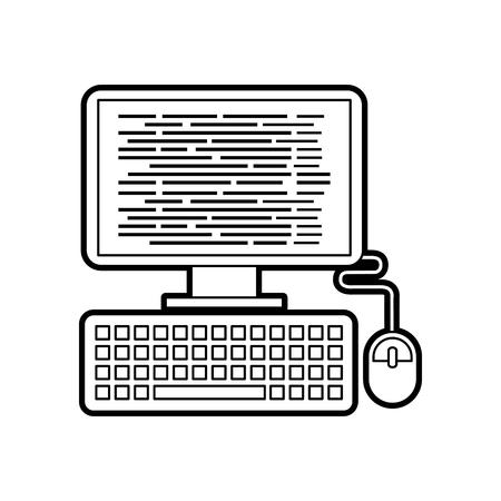 Programa de computadora que codifica la ilustración de vector de software de página web Foto de archivo - 87777600