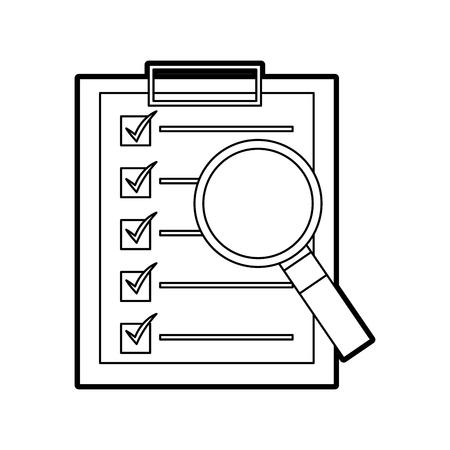 Clipboard checklist report