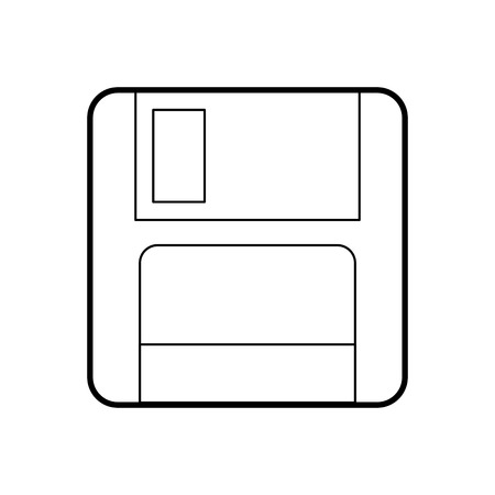 magnetic floppy disc icon for computer data storage vector illustration Imagens - 87751104