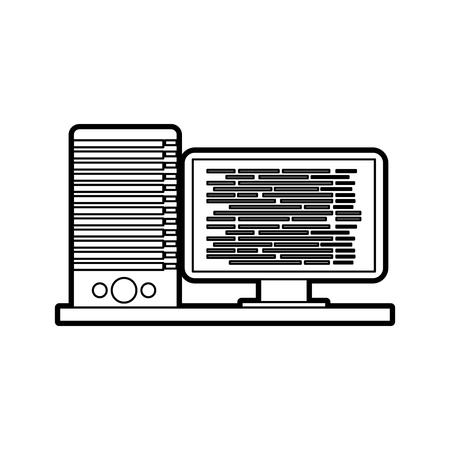 コンピューター サーバー ソフトウェア  イラスト・ベクター素材