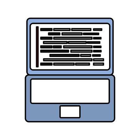 Laptop coding concept