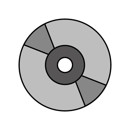 compact cd or dvd disk computer audio video vector illustration Illustration