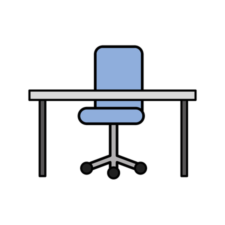 Office desk and chair Stock Vector - 87771558