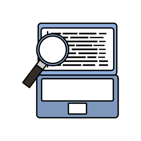 Laptop with magnifier