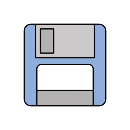 コンピューター データ ストレージ ベクトル図の磁気フロッピー ディスク アイコン
