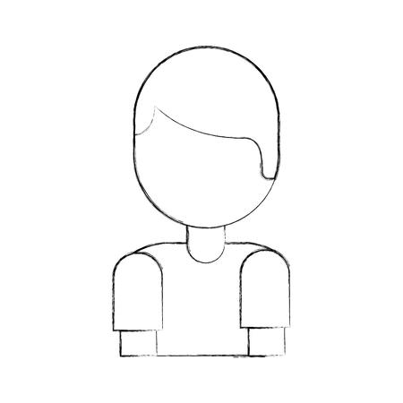 cartoon boy portrait male people vector illustration