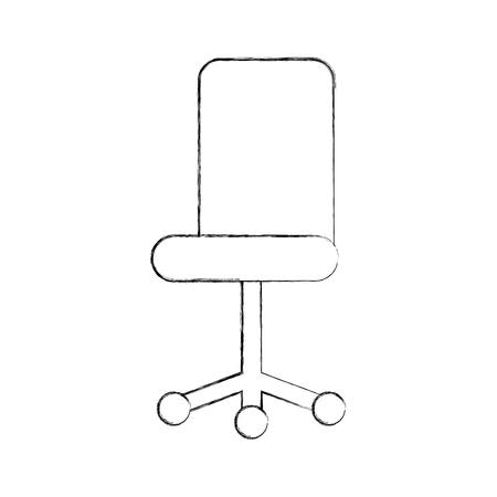 사무실 의자 가구 휠 장비 벡터 일러스트 레이션
