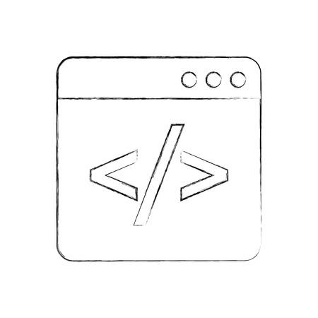 ウィンドウ web プログラミングの開発ベクトル図をコーディング