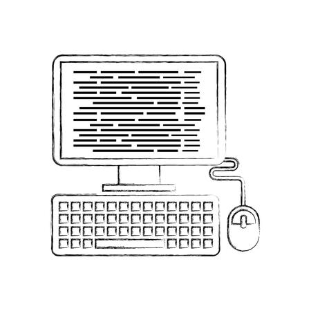 Ilustración de vector de software de programación de software de página web de pantalla Foto de archivo - 87758202