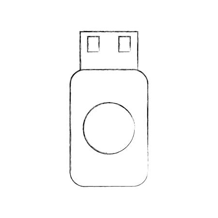 A usb flash drive data storage device concept vector illustration.