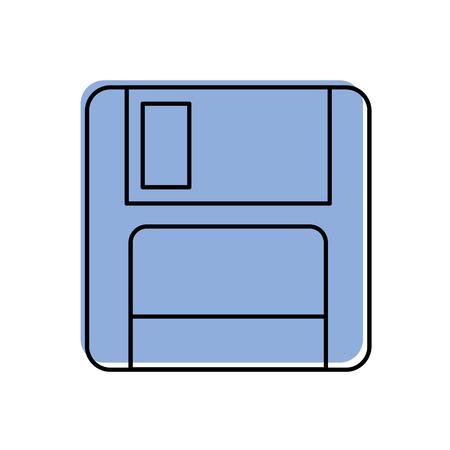 コンピューター データ ストレージ ベクトル図の磁気のフロッピー ディスクのアイコン
